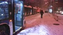 Snow makes travel difficult in New York City