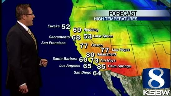 Get Your Tuesday KSBW Weather Forecast 3.26.13