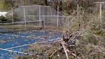 Grimsley High School Tennis Courts Damaged