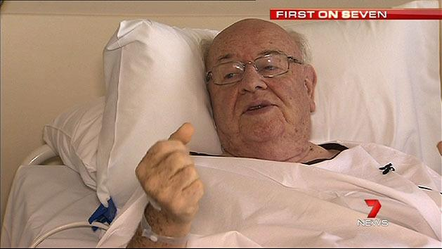 Father Bob Maguire in hospital