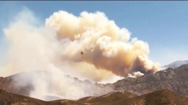Southern California's Silver wildfire is growing