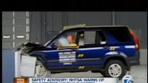 Counterfeit airbag warning