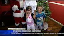 SDPD officers bring Christmas cheer to family