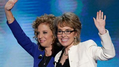 Raw Video: Gabby Giffords leads Pledge at DNC