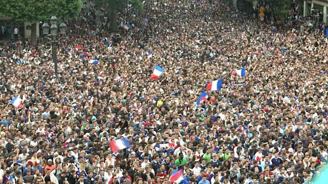 World Cup: Fans celebrate France's victory over Nigeria