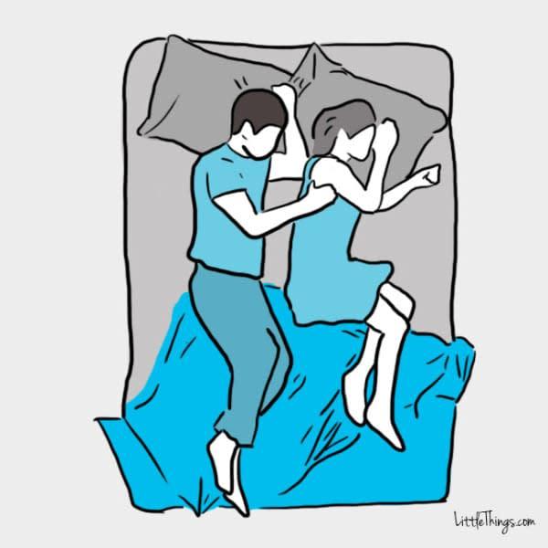 解密伴侶睡姿隱含的意義!