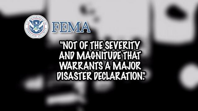FEMA denies disaster aid to West, Texas