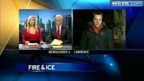 Brutal cold, ice making firefighting difficult