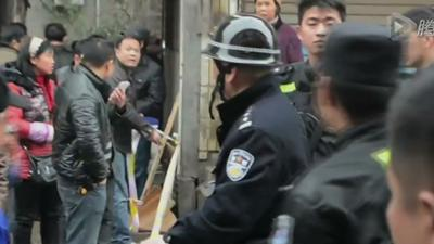 Raw: Knife Fight in China Market Leaves 6 Dead