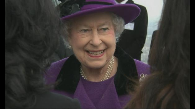 The Queen goes up London's Shard