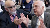 Scientists celebrate Nobel Prize behind Higgs boson
