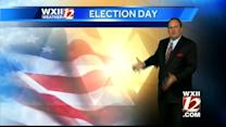 Cool and possible sprinkles on Election Day