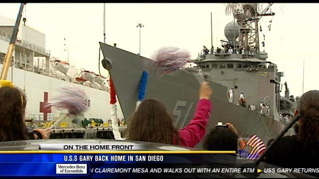 USS Gary back home in San Diego
