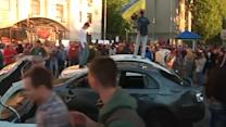 Russian embassy in Kiev attacked