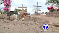 Storms cause damage at area cemetery