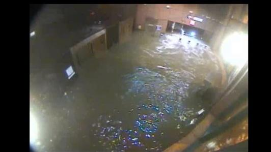 Sandy One Year On: Flooding in New Jersey Rail Station
