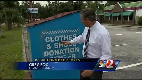Commissioners look to ban donation boxes
