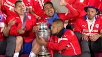 Chileans Copa America victory joy