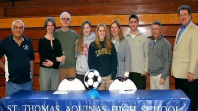 Two Saints Sign D-I Soccer Scholarships