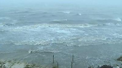 Raw Video: Isaac inundates Miss. beaches