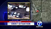 Shots fired at Tuesday SWAT situation
