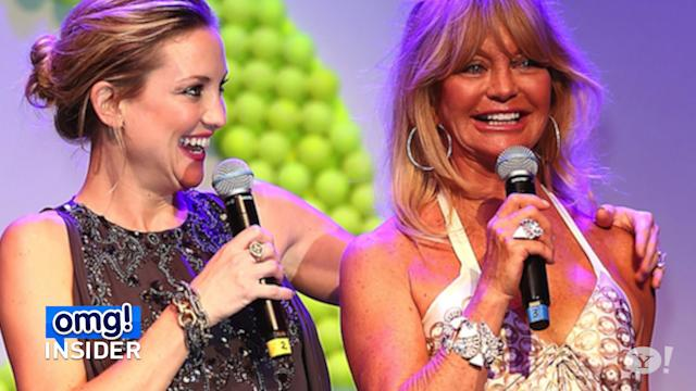 Kate Hudson and Goldie Hawn Play Ball in Ball Gowns