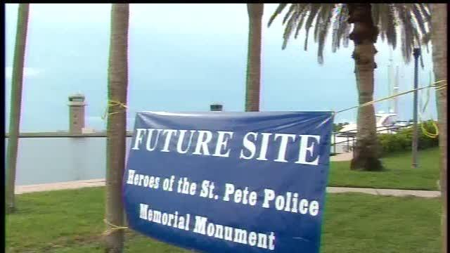 Officials begin pitch for memorial for slain officers