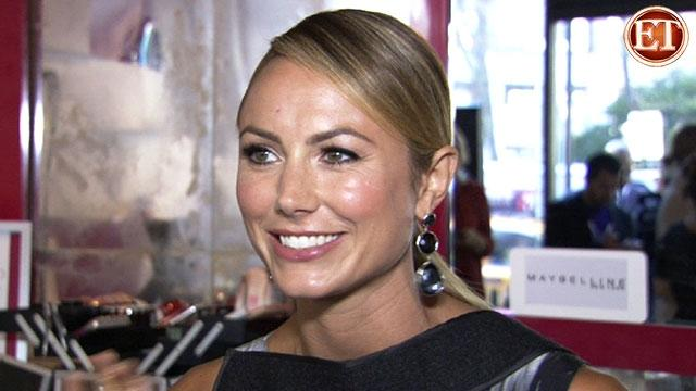 Stacy Keibler Dishes at Fashion Week