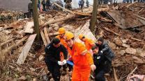 Around the World: Landslide buries village in China