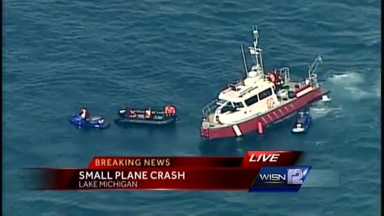 Plane crash in Lake Michigan