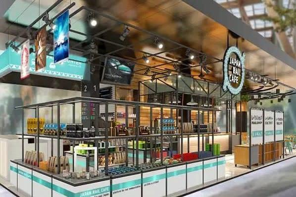 Japan Rail Café除了在日本多處設有分店,也進軍海外,此為新加坡分店示意圖。(圖/ Japan Rail Café,以下同)