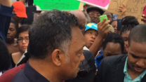 Jesse Jackson Visits Sixth Day of Protests in Ferguson
