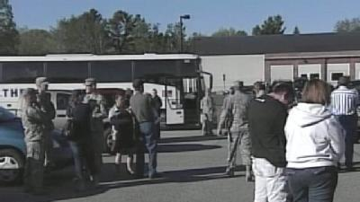Saco Holds Send-Off For Members Of 94th Military Police