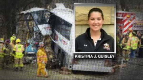 Pregnant coach killed in lacrosse team bus crash