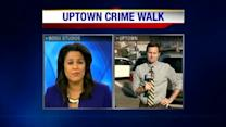 NOPD chief walks beat in Uptown crime walk
