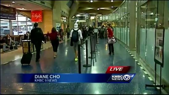 Air travelers join holiday travel crush