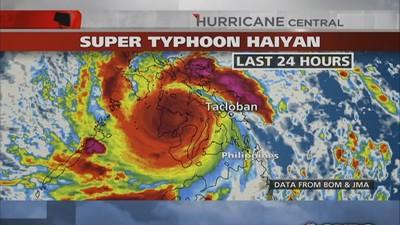 Super Typhoon Haiyan heads to Vietnam