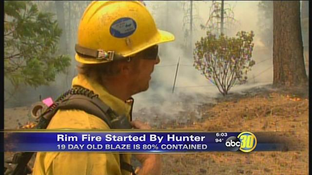 Rim Fire near Yosemite caused by hunter, USFS says