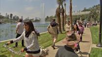 Echo Park Lake reopens after renovations, Angelinos rejoice