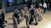 Marines receive hero's welcome, first-class treatment on return home