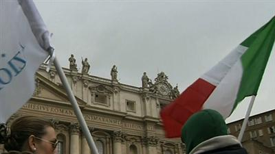 Vatican Crowds Watch for White Smoke