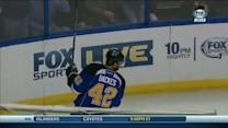 David Backes snaps one past James Reimer