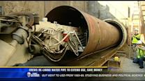 Crews re-lining water pipe to extend use, save money