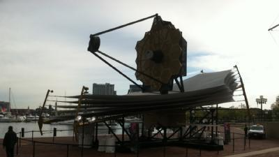 Webb Space Telescope Replica Unveiled