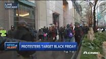Chicago protesters block shops