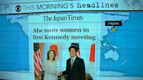 Headlines at 8:30: Caroline Kennedy has first meeting with Japan PM