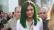 Kylie Jenner Rocks Green Hair at Lip Kit Launch Party