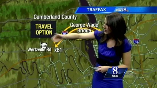 News 8's Julie Gargotta details I-81 alternate routes