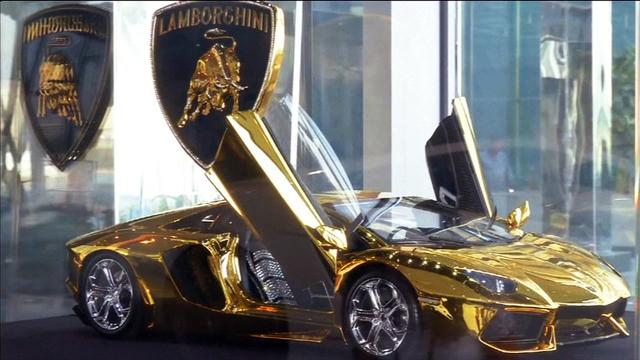 Gold-plated, diamond encrusted Lamborghini up for auction