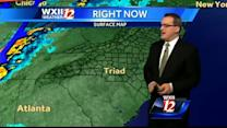 Gusty and 60's with possible showers later in the Triad